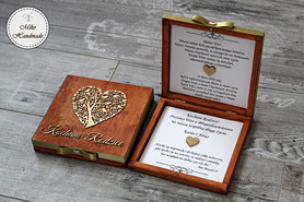 Pudełko z prośbą o błogosławieństwo - mahoń Kochani Rodzice