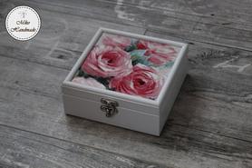 Szkatułka na biżuterię/drobiazgi - Kwiaty