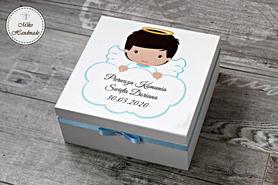 Personalizowane pudełko na pamiątkę Komunii Świętej - chłopiec