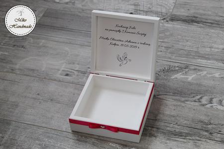 Pudełko na pamiątkę Komunii Świętej - IHS (2)