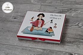 Pudełko na czekoladki Merci - Nauczycielka z dziećmi