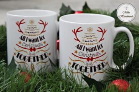 Komplet dwóch kubków świątecznych - Christmas