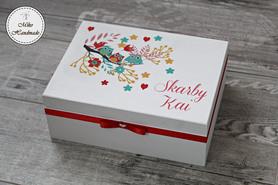 Pudełko na skarby maluszka - Sówki
