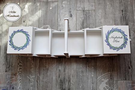 Niciarka - biała - lawenda (2)