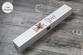 Pudełko na świecę - różowy aniołek