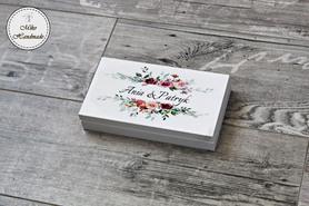 Pudełko na pieniądze dla Pary Młodej - kwiaty