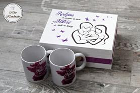 Prezent dla Młodych Rodziców - Kubki + pudełko