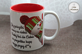 Kubek Świąteczny - Bałwanek z życzeniami