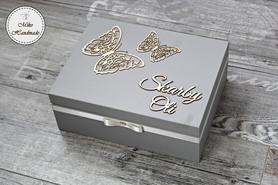 Pudełko na Skarby Maluszka - motyle