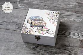 Pudełko na pamiątkę Ślubu - Niezbędnik Małżeński (4 przegródki)