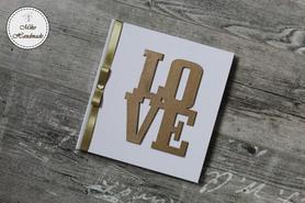 Księga Gości - biała LOVE