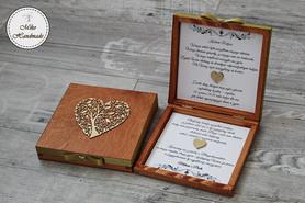 Pudełko z prośbą o błogosławieństwo - mahoń