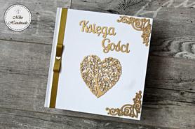 Księga Gości - biała - białe karty (dekor do wyboru)
