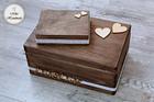 Komplet pudełek ślubnych - rustykalny (Mr&Mrs) (2)