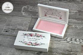 Pudełko na pieniądze dla Pary Młodej - Pastelowe Róże