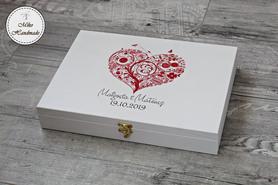 Pudełko na prezent ślubny (A4) - serce