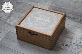 Pudełko na herbatę - Home Sweet Home (4 przegródki)