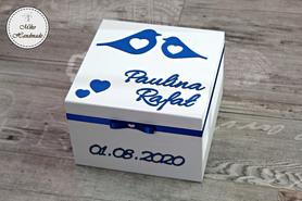 Pudełko na prezent ślubny (wzór 1)