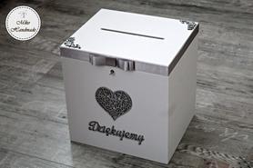 Skrzynka na koperty - ażurowe serce - duża (kluczyk)