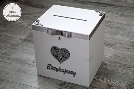 Skrzynka na koperty - ażurowe serce - duża (kluczyk) (1)