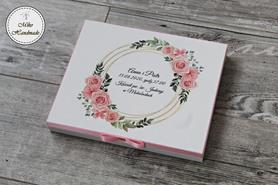 Prośba o Błogosławieństwo - różowe róże (koło) - pudełko na Merci