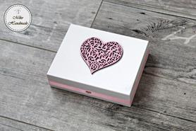 Pudełko na obrączki - ażurowe serce (Wz. 1)