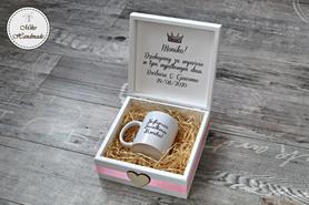 Pudełko z podziękowaniem dla Świadkowej + Kubek (Wybierz swój wygląd)
