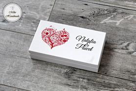 Pudełko na pieniądze dla Pary Młodej - czerwone serce