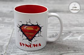 Kubek Super Synowej - czerwony środek