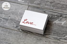 Pudełeczko na obrączki - Love