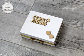 Pudełko na obrączki - I ślubuję Ci miłość (Żona,Mąż)