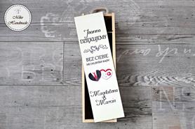 Pudełko na wino dla Świadkowej (podziękowanie)