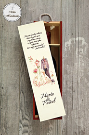 Pudełko na wino dla Pary Młodej