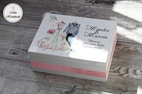 Prezent na Rocznicę Ślubu - pudełko + Kubki (Suknia i Frak)