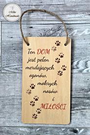 Tabliczka dekoracyjna o psie - wzór 1