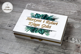Księga Gości w pudełku - Tropikalne liście