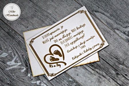 Naturalna kartka z okazji narodzin dziecka - It's a boy (1)