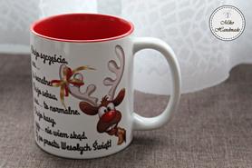 Kubek Świąteczny - Renifer z życzeniami