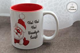 Kubek Świąteczny - Mikołaj z życzeniami