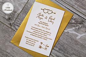 Naturalne zaproszenie ślubne - serca