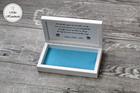 Pudełko na pieniądze dla Pary Młodej - niebieski wzór (2)