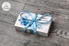 Pudełko na pieniądze dla Pary Młodej - niebieski wzór (3)