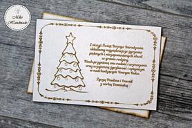 Naturalna kartka Świąteczna z Twoimi życzeniami - Choinka