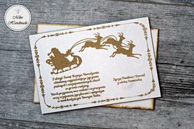 Naturalna kartka Świąteczna z Twoimi życzeniami - Mikołaj