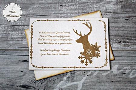 Naturalna kartka Świąteczna z Twoimi życzeniami - Renifer (1)
