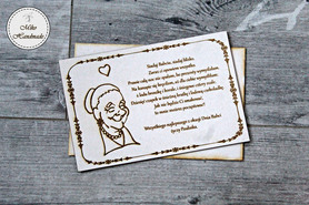 Naturalna kartka na Dzień Babci