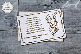 Naturalna kartka na Dzień Dziadka