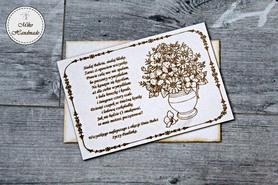 Naturalna kartka na Dzień Babci - Kwiaty