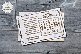 Naturalna kartka na Dzień Babci i Dziadka - Kalendarz