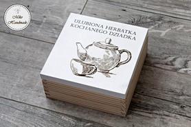 Pudełko na herbatę Dziadka - Wzór 1 (4 przegródki)